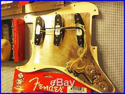 Fender Loaded Strat Pickguard CS Texas Special Aged Cream on Tortoise 7 Way USA