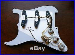 Fender Loaded Strat Pickguard CS Texas Special All Black 7 Way Made in USA