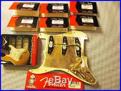 Fender Loaded Strat Pickguard CS Texas Special, Fat 50s, 69 Cream on Black 7 Way