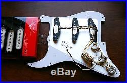 Fender Loaded Strat Pickguard Custom Shop'54 Cream on Mint Green 7 Way AnyColor