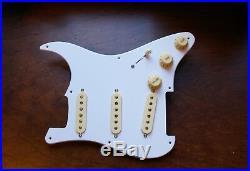 Fender Original 57 / 62 Pickup Loaded Strat Pickguard Cream on White 1ply 8 Hole