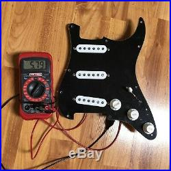 Fender Original 57/62 Prewired Strat Pickguard Loaded PIO Harness Black