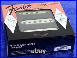 Fender Pure Vintage 59 Loaded Strat Pickguard White on Black 7 Way USA Made
