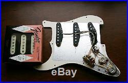 Fender Pure Vintage 59 Loaded Strat Pickguard White on Tortoise 7 Way USA Made