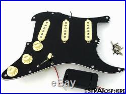 Fender Roadhouse Stratocaster LOADED PICKGUARD Noiseless Strat S1+ V6 Rotary BLK