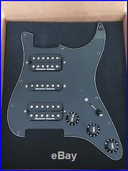 Fender Strat Black Loaded Pickguard Seymour Duncan Pickups Sh-2n, Stk-s4m, Tb-4