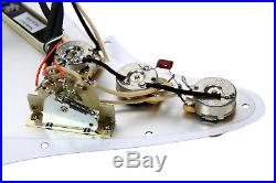 Fender Strat Loaded Pickguard Lace Sensor Pickups Blue Silver Red AWP/AW