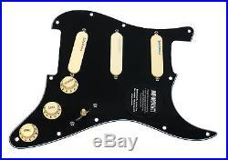 Fender Strat Loaded Pickguard Lace Sensor Pickups Blue Silver Red BK/AW