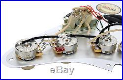 Fender Strat Loaded Pickguard Lace Sensor Pickups Blue Silver Red CR/AW