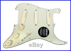 Fender Strat Loaded Pickguard Lace Sensor Pickups Blue Silver Red MG/AW