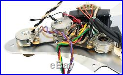 Fender Strat Parchment Loaded Pickguard Lace Sensor Blue Silver Red Eric Clapton