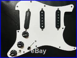 Fender Strat pickguard DiMarzio Pickups Loaded Heavy Blues/True Velvet/ProTrack