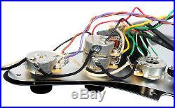 Fender Stratocaster Strat Clapton Lace Sensor Gold Loaded Pickguard CR/BK
