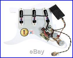 Fender Stratocaster Strat Clapton Lace Sensor Gold Loaded Pickguard WH/WH