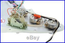 Fender Stratocaster Strat Lace Sensor Gold Loaded Pickguard CR/AW