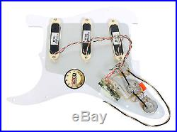 Fender Stratocaster Strat Lace Sensor Gold Loaded Pickguard PA/WH