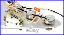 Fender Stratocaster Strat Lace Sensor Gold Loaded Pickguard TO/WH