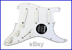 Fender Stratocaster Strat Lace Sensor Gold Loaded Pickguard WH/WH