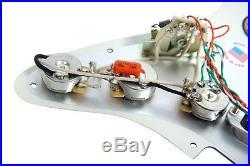 Fender Stratocaster Strat Lace Sensor Gold Loaded Pickguard WP/AW