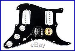 Fender Stratocaster Strat Loaded HH Pickguard Seymour Duncan P-Rails BK/WH