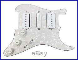 Fender Stratocaster Strat Loaded HSH Pickguard Duncan P-Rails Vintage WP/WH