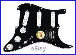 Fender Stratocaster Strat Loaded Pickguard Duncan Everything Axe Pickups BK/WH
