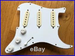 Fender Stratocaster Strat Loaded Pickguard With Fender Noiseless SCN Pickups