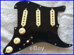 Fender Tex-Mex Pickup Loaded Strat Pickguard Aged Cream on Black 7 Way Switch