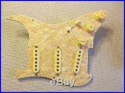 Fender Tex-Mex Pickup Loaded Strat Pickguard Cream on Aged Pearl 7 ...