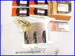 Fender Tex-Mex Pickup Loaded Strat Pickguard Cream on Gold Anodized