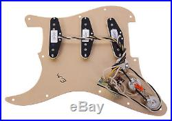 Fender Texas Special Strat Loaded Strat Pickguard Anodized Gold / White