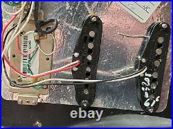 Fender USA Deluxe HSS Strat LOADED PICKGUARD for Humbucker Stratocaster Relic