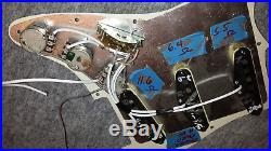 Fender USA Strat LOADED PICKGUARD Stratocaster American SSS Shielded Wiring
