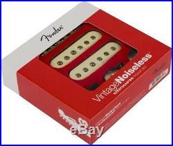 Fender Vintage Noiseless Clapton Loaded Strat Pickguard Aged White on Black 3ply