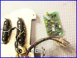 Fender Vintage Noiseless Clapton Loaded Strat Pickguard TBX Mid Boost Parchment