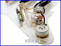 Fender Vintage Noiseless Loaded Strat Pickguard Clear 1-Ply / Aged White Pickups
