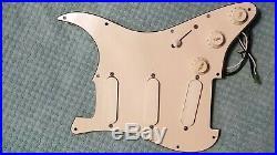 Fender strat plus 88 deluxe lace sensor loaded pickguard, silver, silver&blue