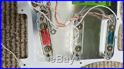 Fender strat plus deluxe lace sensor loaded pickguard, blue, silver&red 89/91