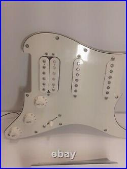 Genuine Fender Standard Stratocaster Fat Strat Loaded Pickguard 2017 Parchment
