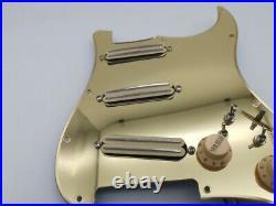Gold Mirror Guitar Prewired Loaded Multifunctional Pickguard Fit Fender Strat