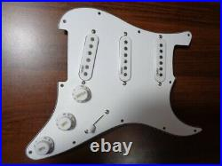 Handmade Loaded Sss Pre-wired Strat Pickguard With Treble Bleed And Tele Mode