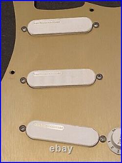 Lace Sensor Gold Loaded Pickguard 2013 gold metal pickguard Strat 250 K pots