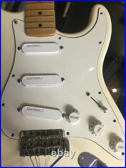 Lace Sensor (Guitar Pick up) Blue, Silver, Red Loaded Pickguard White