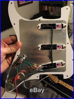 Lace Sensor Loaded Strat Pickguard Purple/Silver/Green Black Pearl 11 Hole 3 Ply