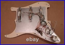 Lace Sensor loaded Stratocaster pickguard Blue Silver Red pickups Strat