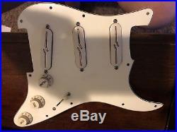 Lindy Fralin Loaded Prewired Strat Pickguard Split Blade Vintage