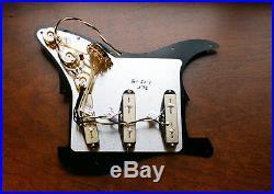 Lindy Fralin Loaded Prewired Strat Pickguard Split Blade Vintage All White