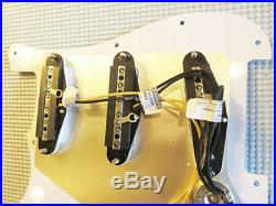 Lindy Fralin Loaded Strat Pickguard Steel Pole 43 Aged Cream STD/ Blender Wiring