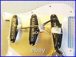 Lindy Fralin Loaded Strat Pickguard Steel Pole 43 White on Tortoise STD/ Blender