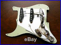 Lindy Fralin Loaded Strat Pickguard Vintage Hot Parchment on Mint Green AnyColor